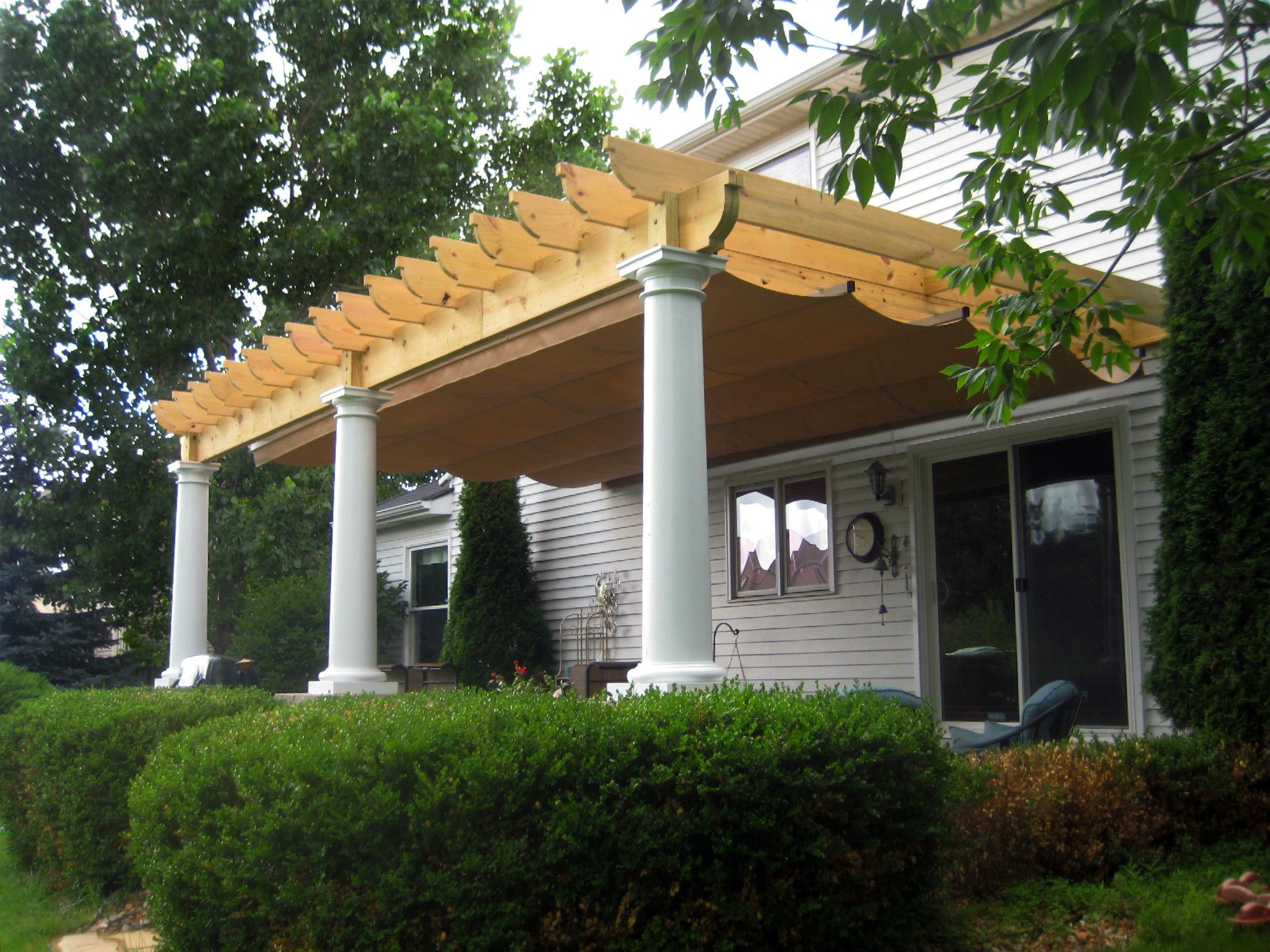 Pergola Design With Canopy By Barrington Il Pergola Builder Pergola Designs Design
