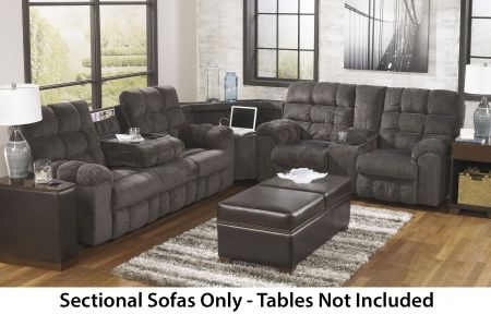 ... Sofa With Right Side Loveseat, Cup Holders And Charging Station    Barrow Fine Furniture   Reclining Sectional Sofa Mobile, Dothan, AL U0026  Pensacola, FL