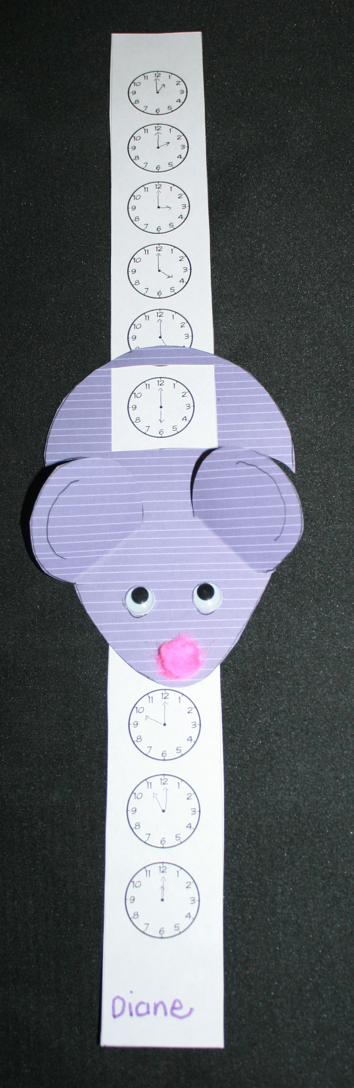 Hickory Dickory Clock Mouse Slider Reinforces Time To The