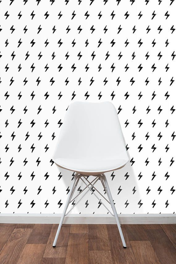 Self adhesive removable wallpaper black and white ink doodles small lightning wall decor peel and stick application cc085 pinterest adhesive