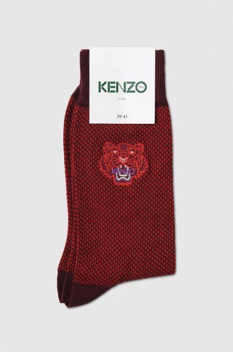 KENZO Tiger Burgundy Socks