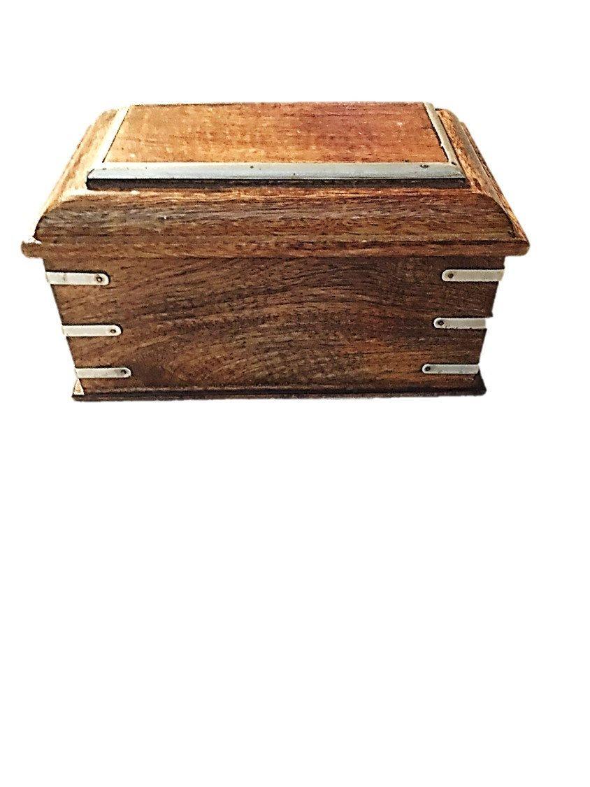 4840f82dacbdd Wooden Mens Trinket Box / Vintage Foreside Box / Treasure Chest ...