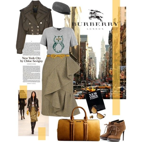 """Burberry in NYC"" by natasha-pecanac on Polyvore"