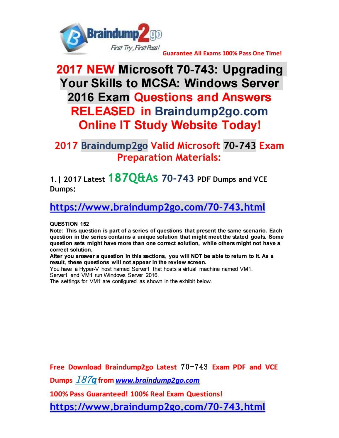 2018 new 70 741 dumps with pdf and vce question 1 question 10 pdf 1betcityfo Gallery