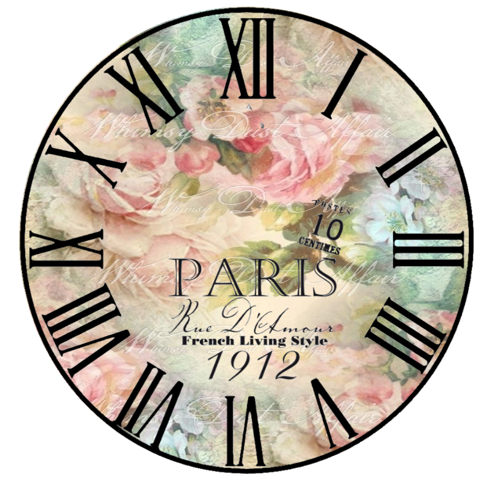 Vintage style wall clock faces of clock dials pinterest - Reloj pared vintage ...
