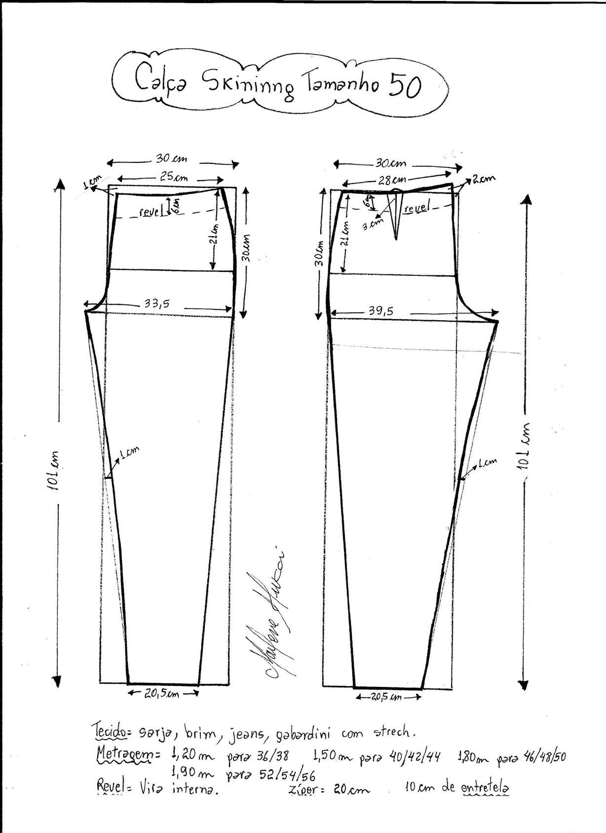 Patrón de pantalones ajustados - Patrones gratis   Cortes carré ...