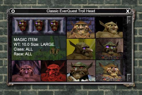 Classic EverQuest Troll Head | EverQuest Trolls | Troll