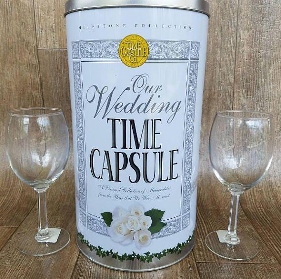 Wedding Time Capsule Keepsake Bridal Shower Gift For Bride Wedding