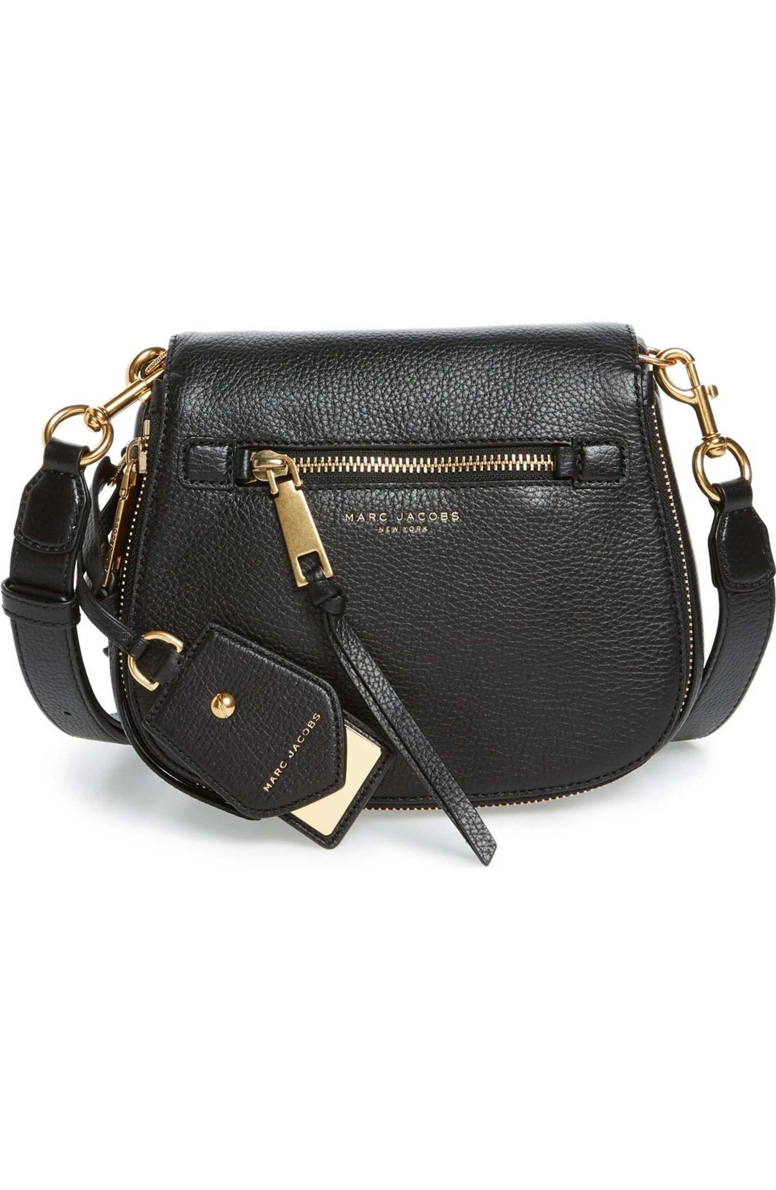 9bbe6654660c Main Image - MARC JACOBS Small Recruit Nomad Pebbled Leather Crossbody Bag