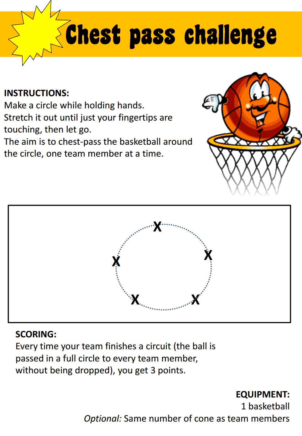 Pe And Fun Games Station Teaching Cards Pdf Physical Education Lessons Basketball Games For Kids Pe Games Elementary