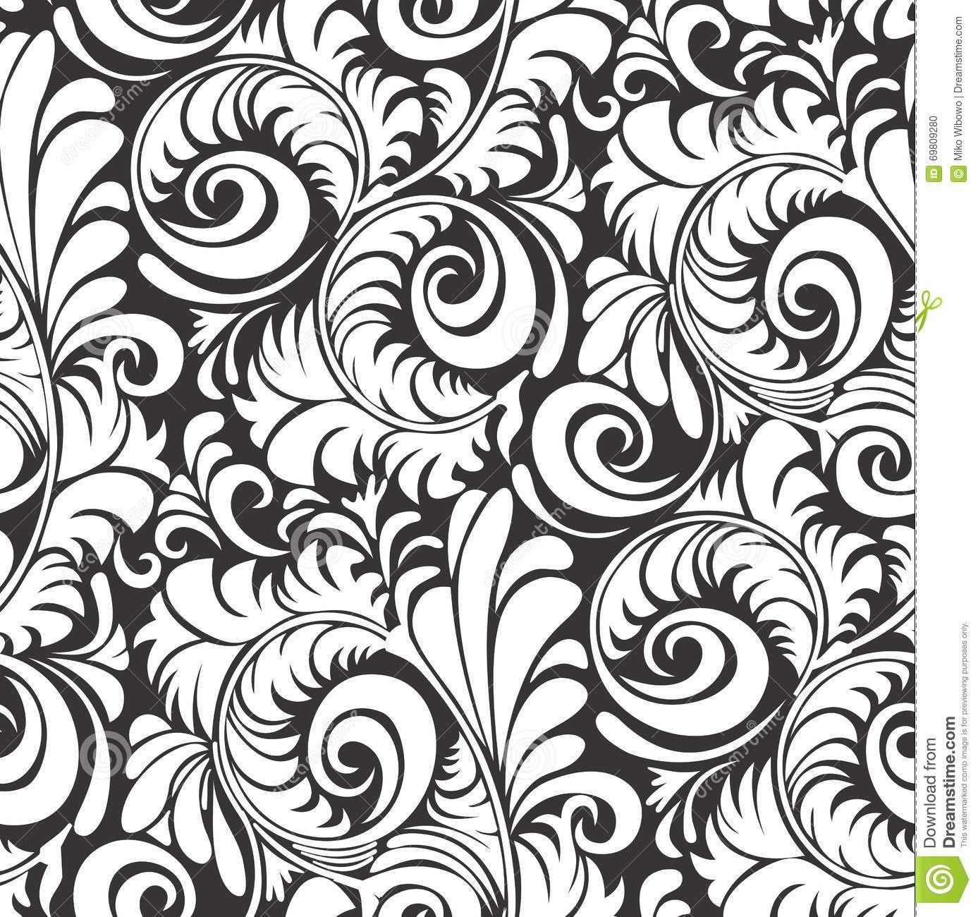 Motif Batik Modern Hitam Putih - Batik Indonesia