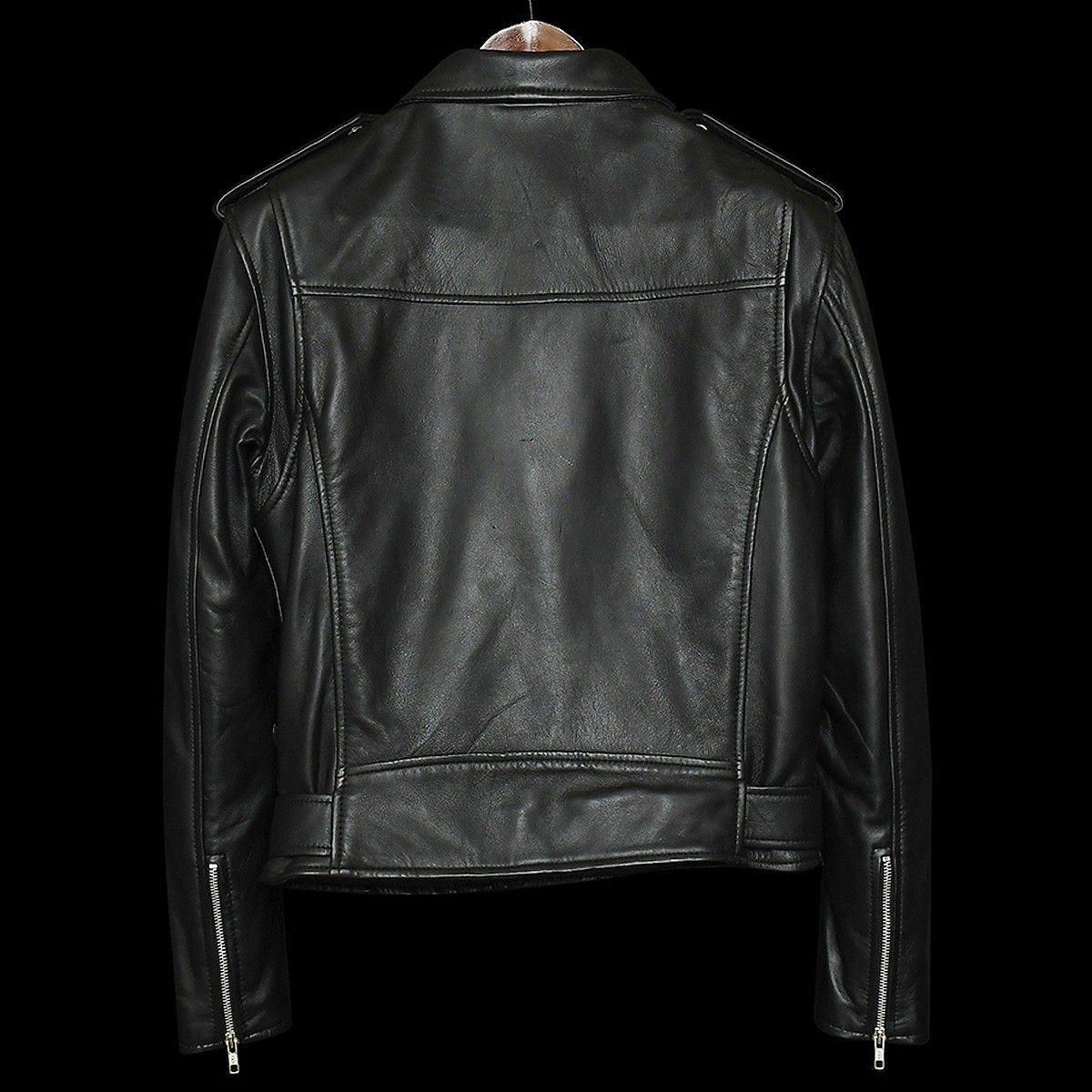 Pure Leather Men S Brando Lambskin Motorcycle Jacket Real Biker Premium Zipper Pockets Leather Men Lambskin Leather [ 1200 x 1200 Pixel ]