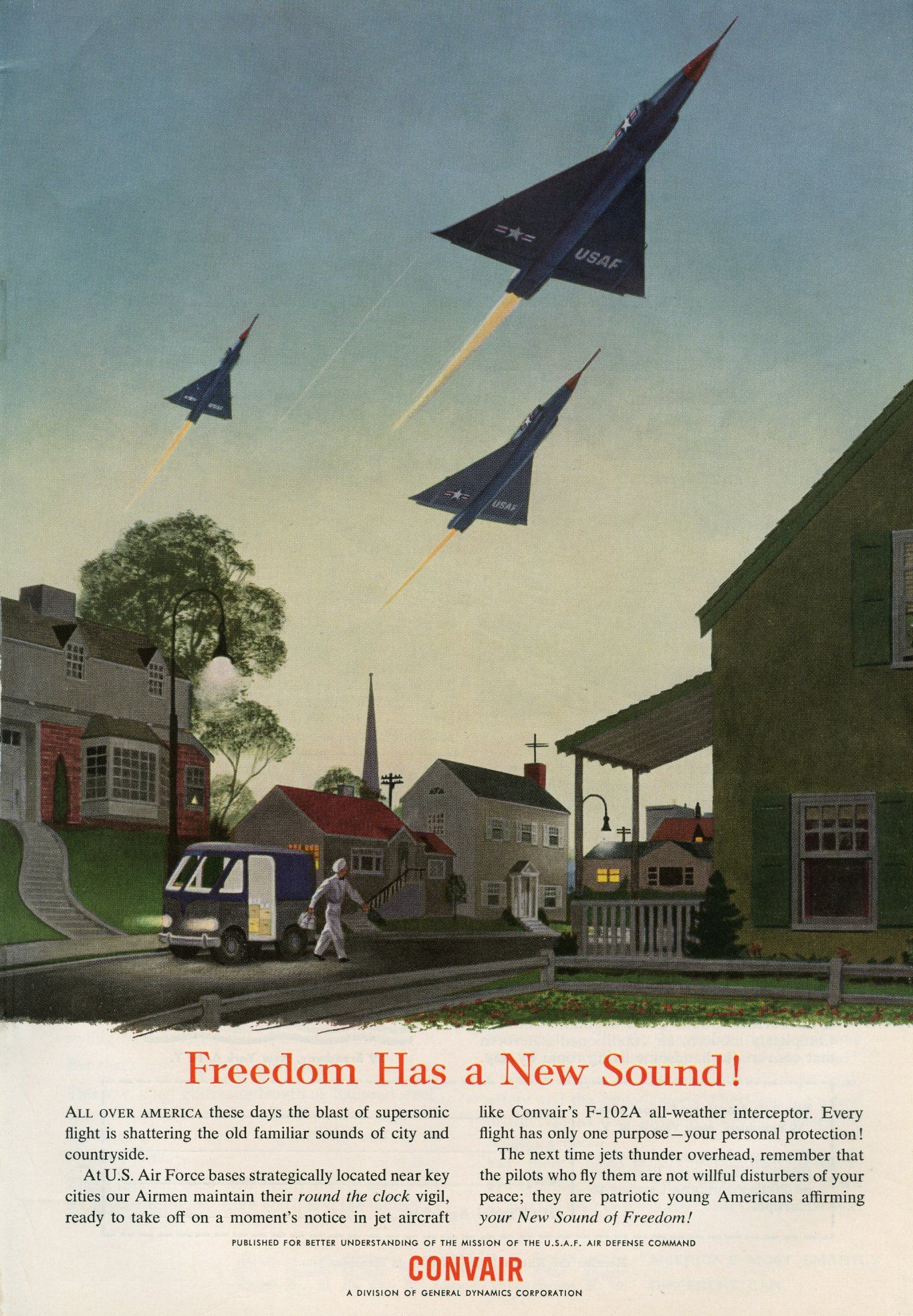 Freedom Has a New Sound! [1955] vintageads Ads vintage