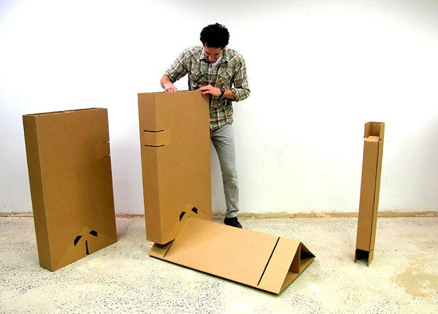 This Cheap Strong Cardboard Standing Desk Will Let You Ditch Your
