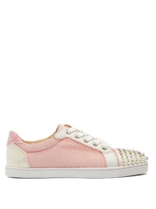 715522a208f CHRISTIAN LOUBOUTIN Gondolita Spike-Embellished Leather Trainers.   christianlouboutin  shoes  sneakers