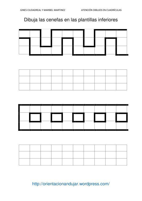 Cenefas 1 atenci n simetr as dibujos en cuadr cula - Cenefas para dibujar ...