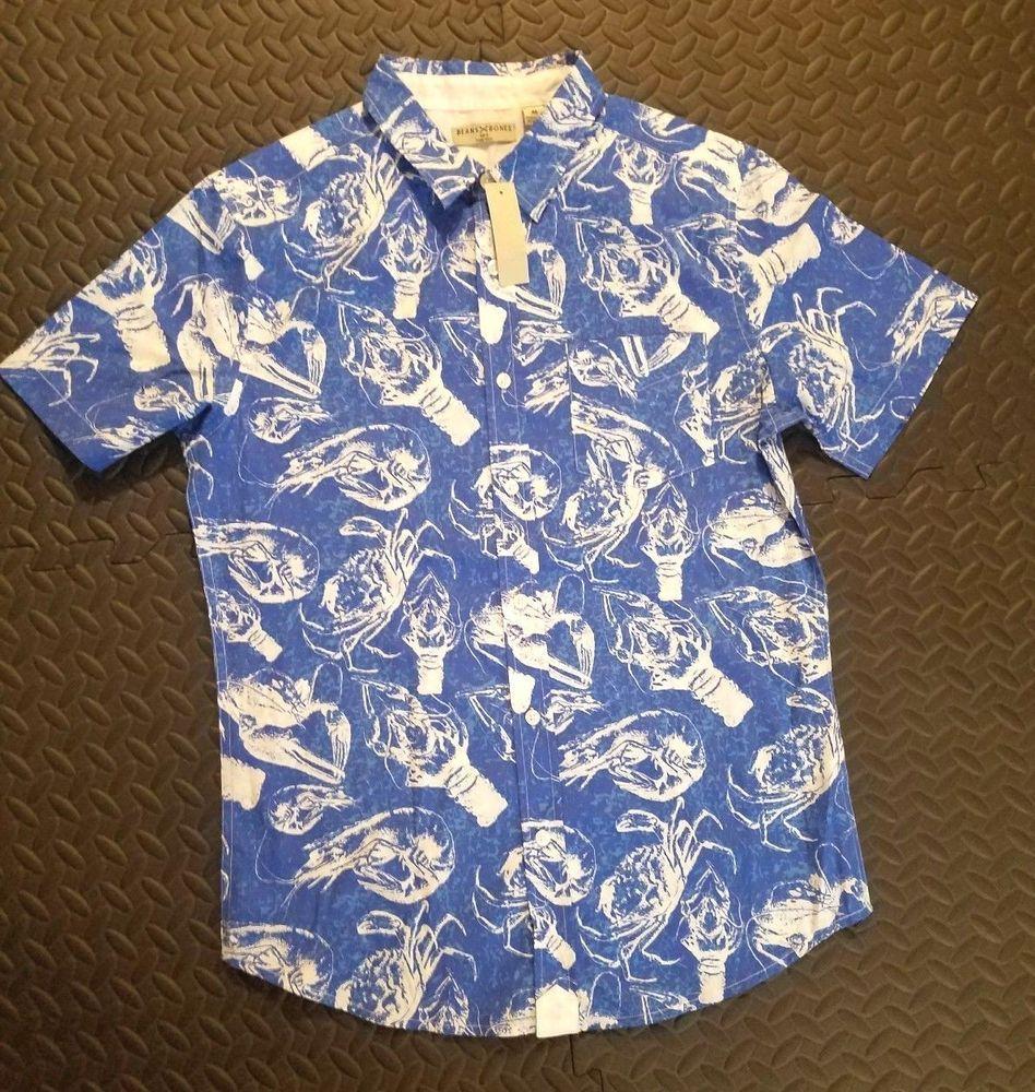 3e52f2e4 #lobster #crab #shrimp #oyster #seaanimals #hawaiian #casualshirt  #fashionspectrumebay
