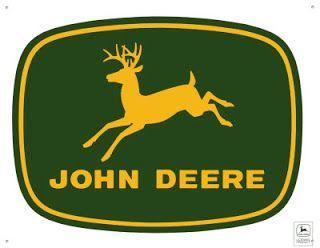 Vintage looking John Deere metal sign quality farm equipment rustic green white