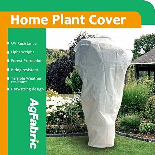 Plant Covers Agfabric 95oz Fabric Plant Cover And Garden Fleece For Winter Frost Protectioninsect Barrier 24x32 Be Sure To Plant Covers Shrubs Plants