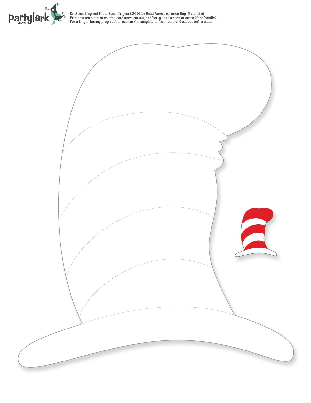 a seussical twist on photo booth props just in time for dr seuss