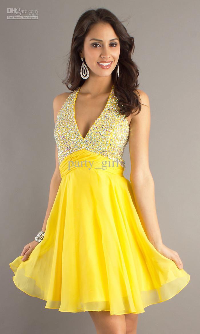 Image result for short yellow chiffon bridesmaid dresses wedding