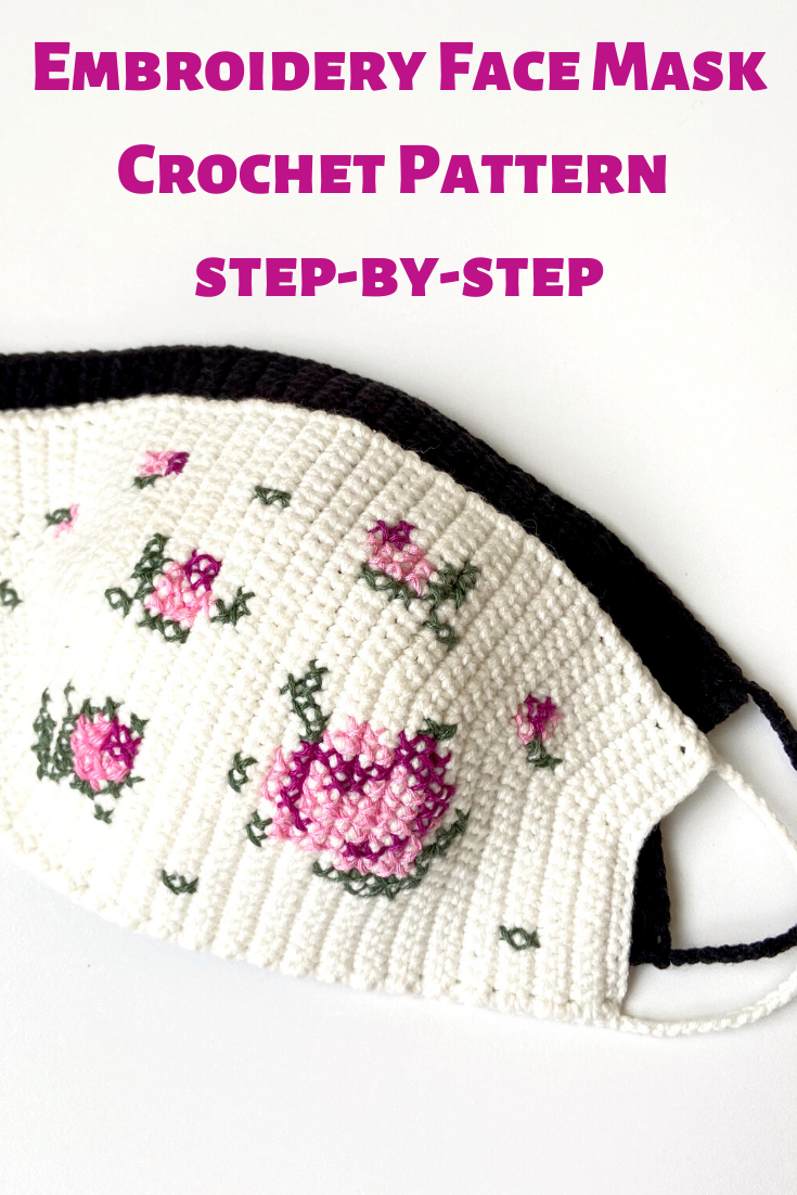 Photo of Embroidery FACE MASK Pattern,  Face Mask Tutorial PDF, Reusable Face Mask