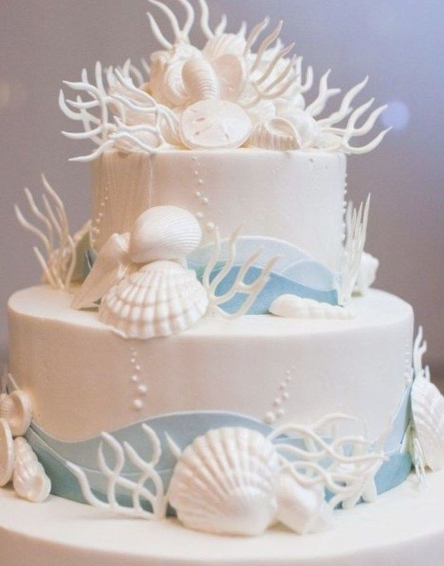Beach Themed Wedding Cakes Designs 88 With Images Beach