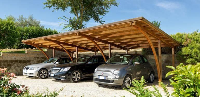 Wooden carport TMD60 Unopiu Carport Pinterest