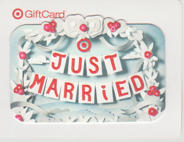 Target Target gift cards, Just married banner, Gift card