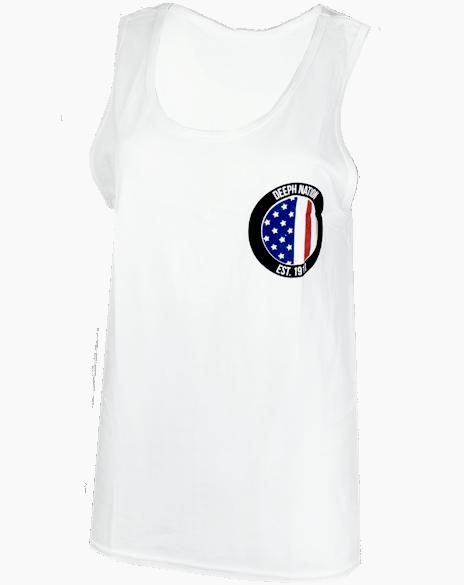 Delta Phi Epsilon America Tank by Adam Block Design | Custom Greek Apparel & Sorority Clothes | www.adamblockdesign.com