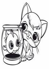 Farvelægning sider for børn Littlest Pet Shop