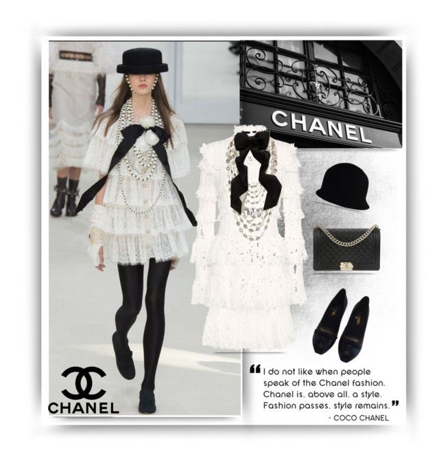 """Chanel inspired"" by chicpeacelove ❤ liked on Polyvore featuring Chanel, Alexander McQueen, Anthropologie, polyvoreeditorial and polyvorefashion"