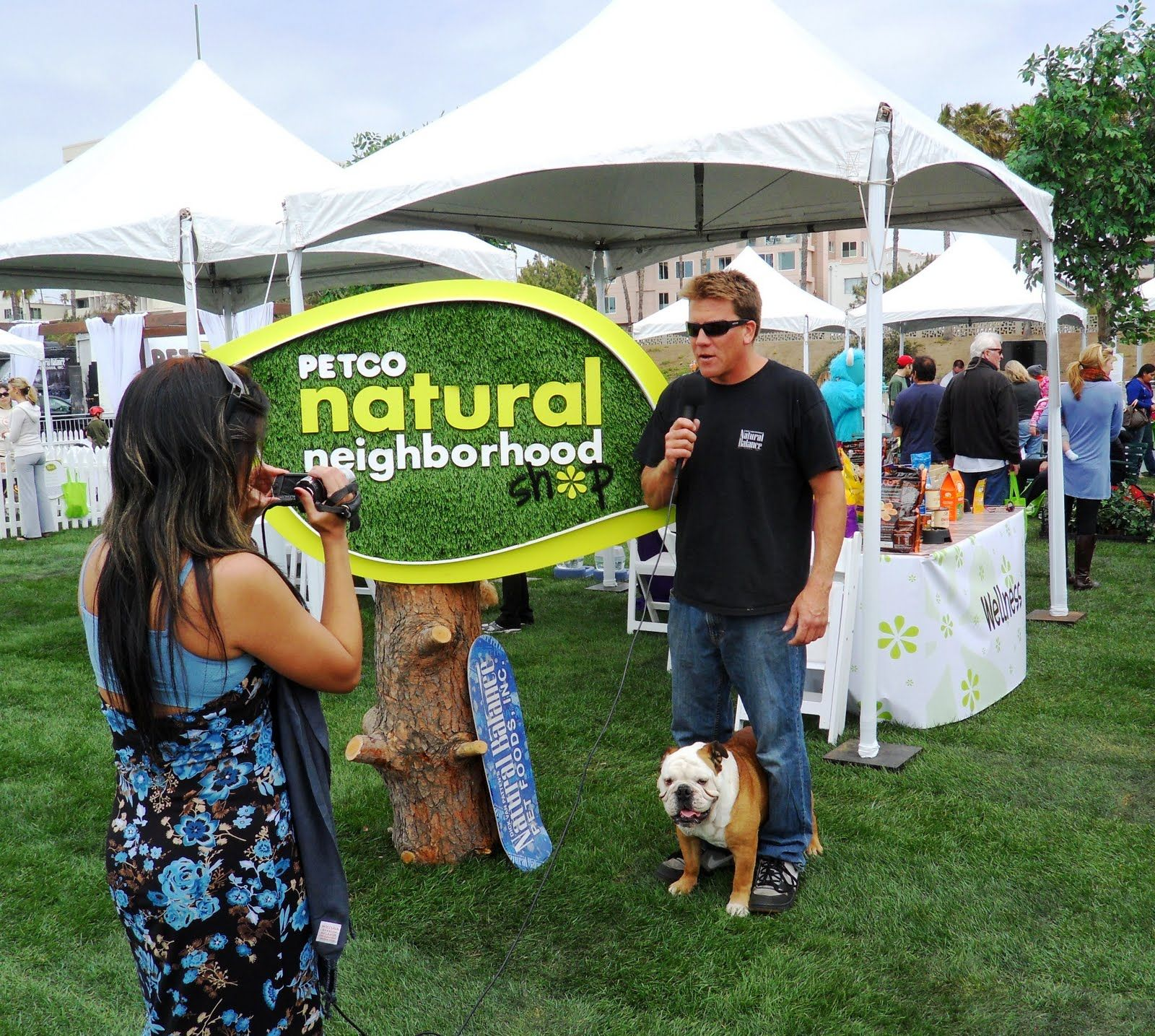 Me and my dad getting interviewed at Petco's Natural Neighborhood festival in Santa Monica.