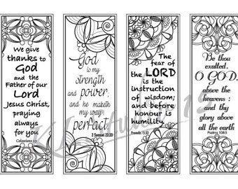48 Bible Bookmark Coloring HD