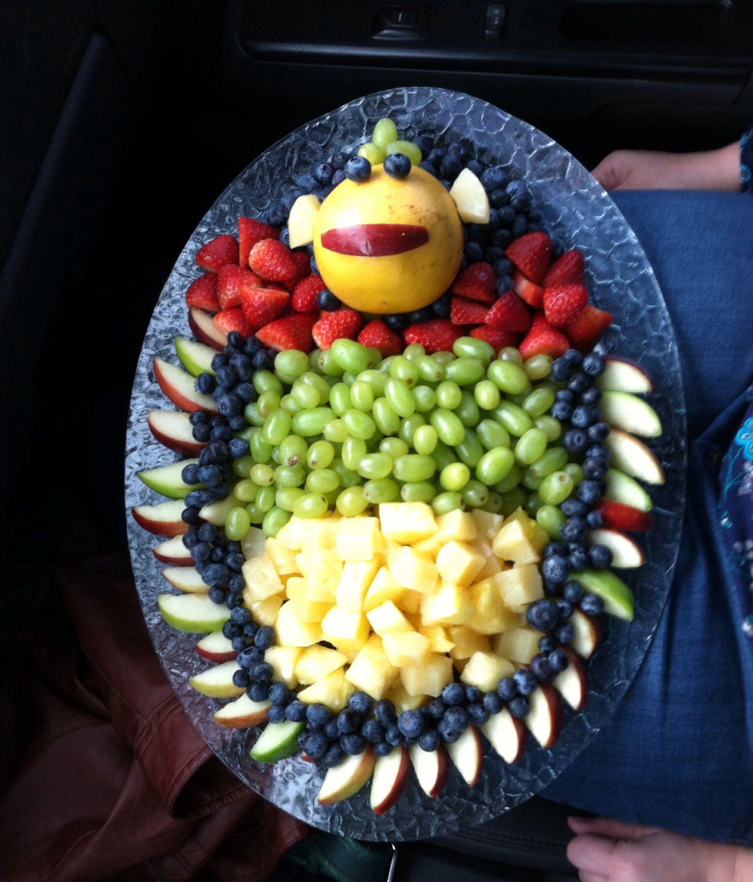 baby shower fruit tray fruits pinterest
