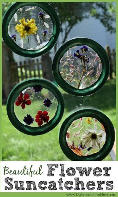 Photo of Beautiful Suncatcher Craft with Flowers