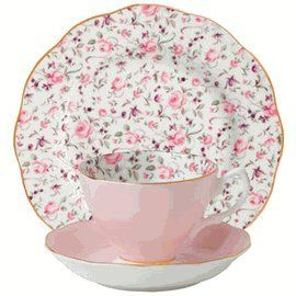 Looking for the best price on Royal Albert - Rose Confetti Teacup Saucer u0026 Plate Set? Try Peteru0027s of Kensington Sydney Australia. Why in the world would ...  sc 1 st  Pinterest & tea cup reminiscent of a lovely girls room wall paper to me for ...