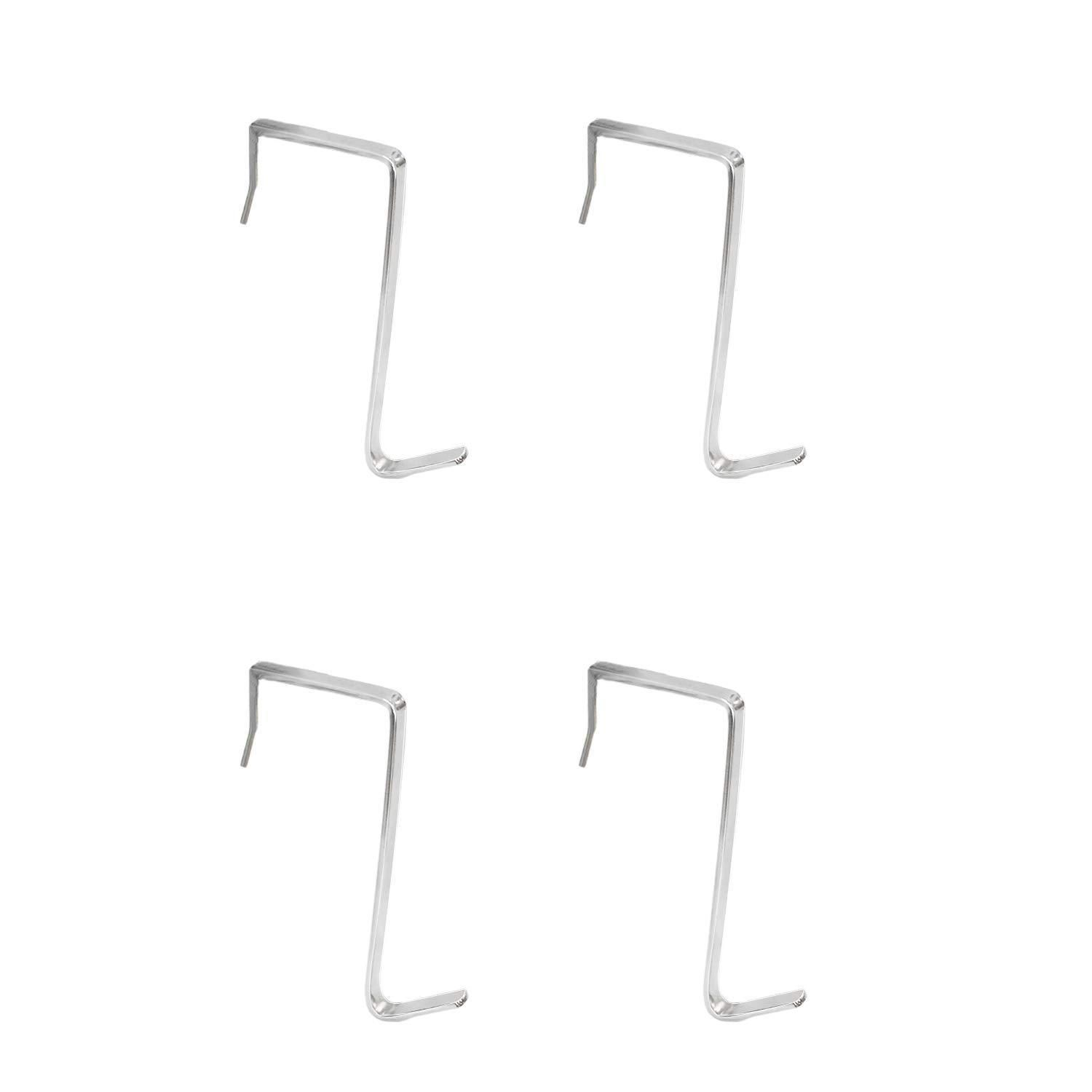 4 Packs Over The Door Hooks Cubicle Hooks For Hanging Stainless Steel Heavy Duty Door Hooks For Clothes Towels Purse Hanger Hooks For Bathroom Closet Back Door Hooks Over The