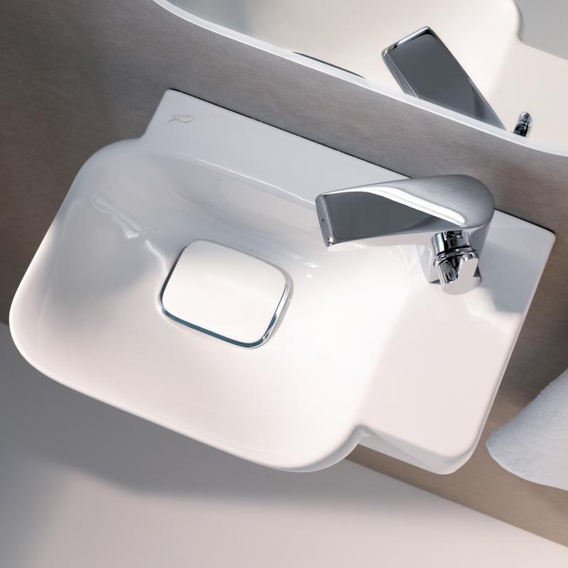 keramag myday handwaschbecken wei mit keratect my love pinterest g ste wc badezimmer a bad. Black Bedroom Furniture Sets. Home Design Ideas