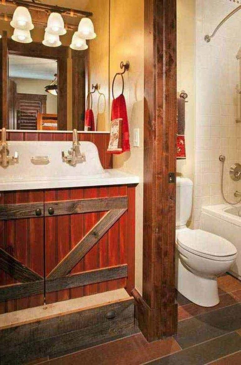 Best 27 Amazing Small Rustic Bathroom Decorating Ideas On A Budget Bathroomdesign Bathroomideas Small Rustic Bathrooms Bathroom Decor Elegant Bathroom Decor