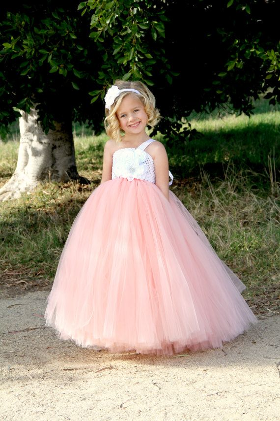 Peach Flower Girl Tutu Dress | Vestidos niña y Vestiditos