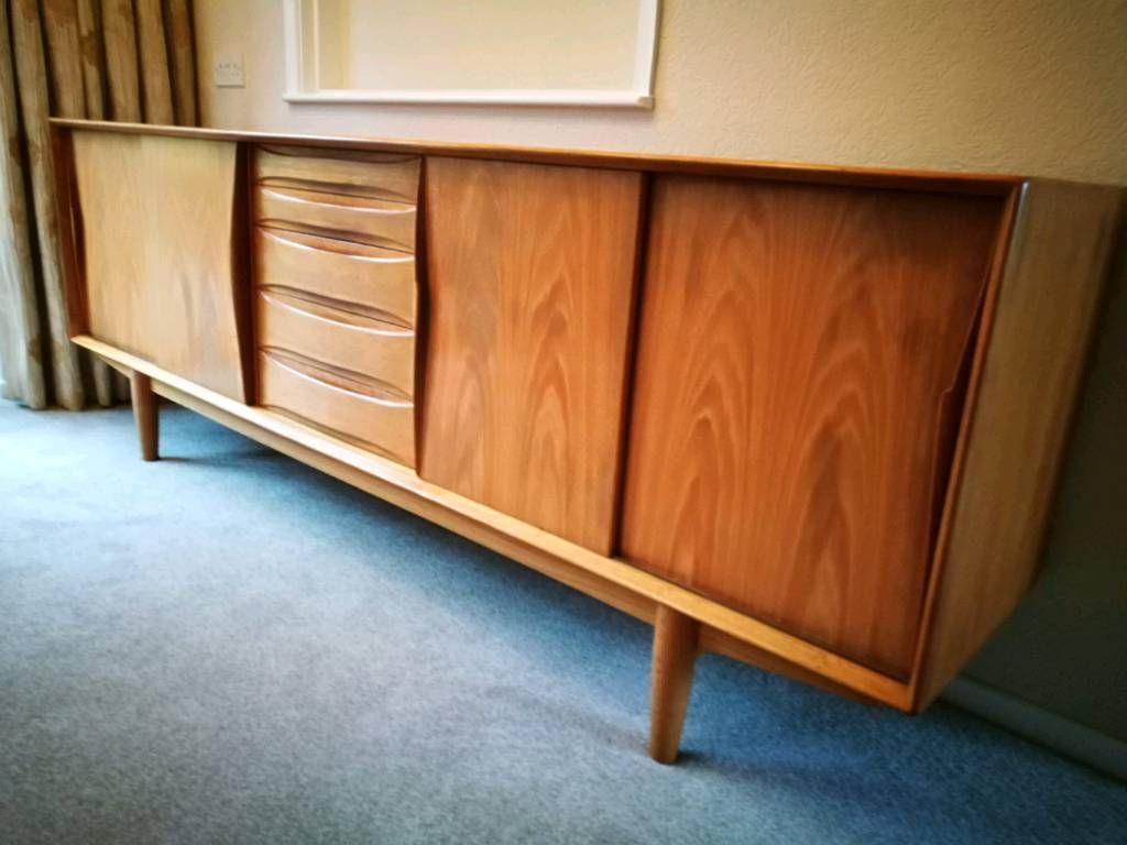 786 Eur Christian Linneberg Designed 1960 S Danish Teak Sideboard