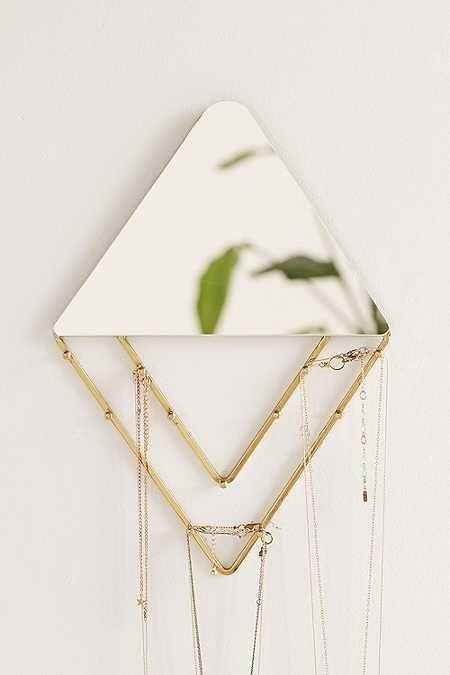 Miroir mural porte-bijoux Alexia Line | Stockage de bijoux ...