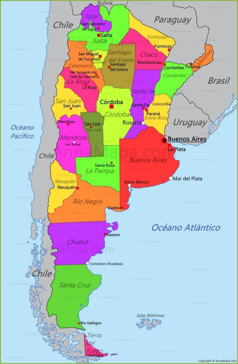 Mapa Argentina Mapa De Argentina Imagenes De Argentina Argentina