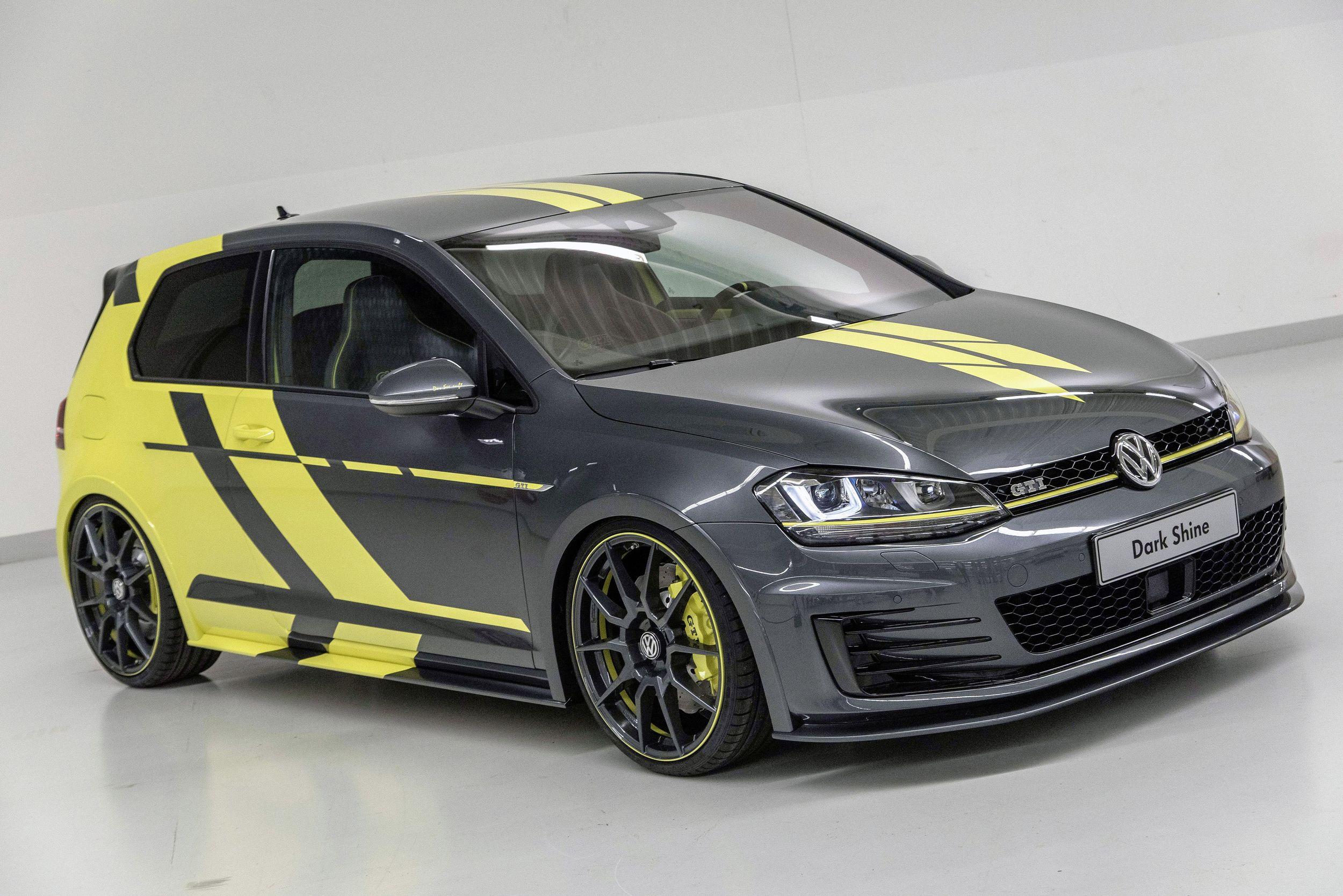 Top car vw apprentices prep golf gti dark shine variant biturbo for worthersee