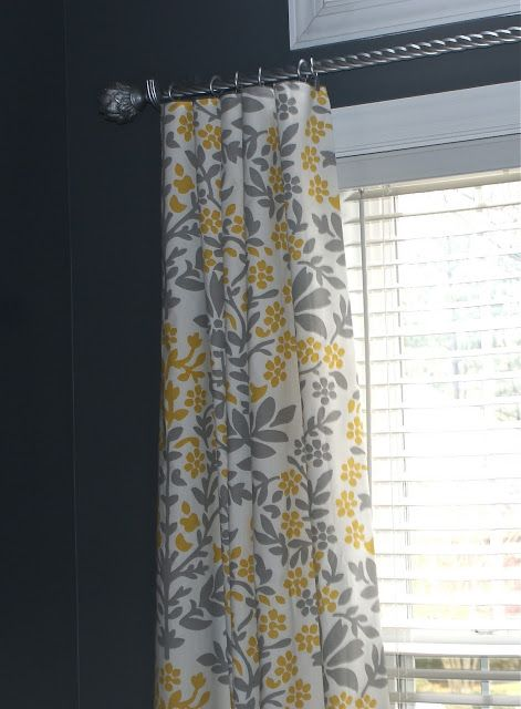DIY Curtains from tablecloth.