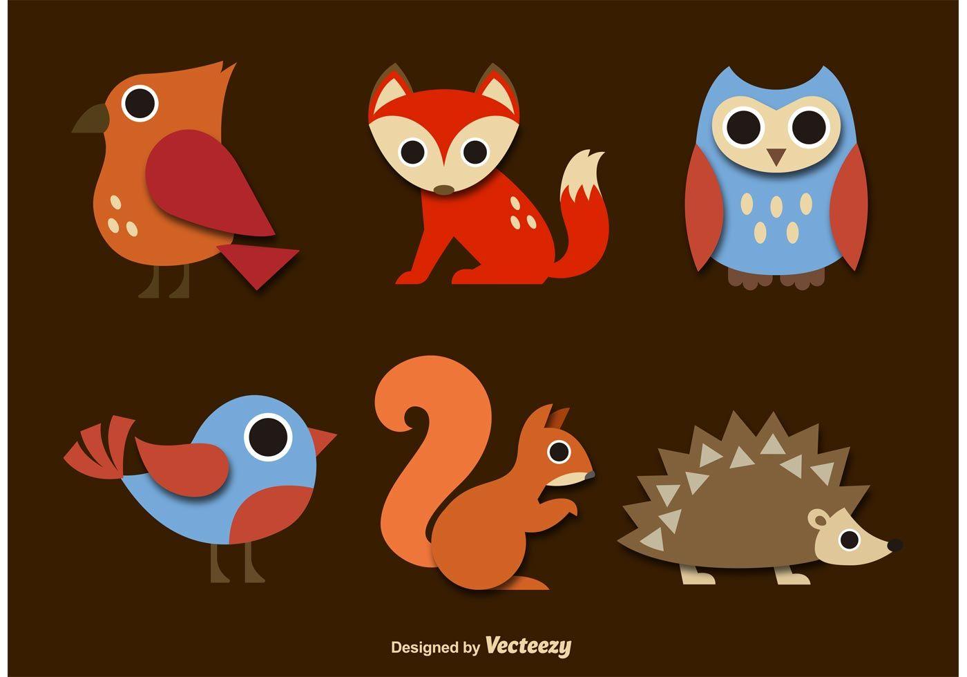 Download Free Vector Art Stock Graphics Images Animal Vector Cute Animal Drawings Kawaii Cute Animal Illustration