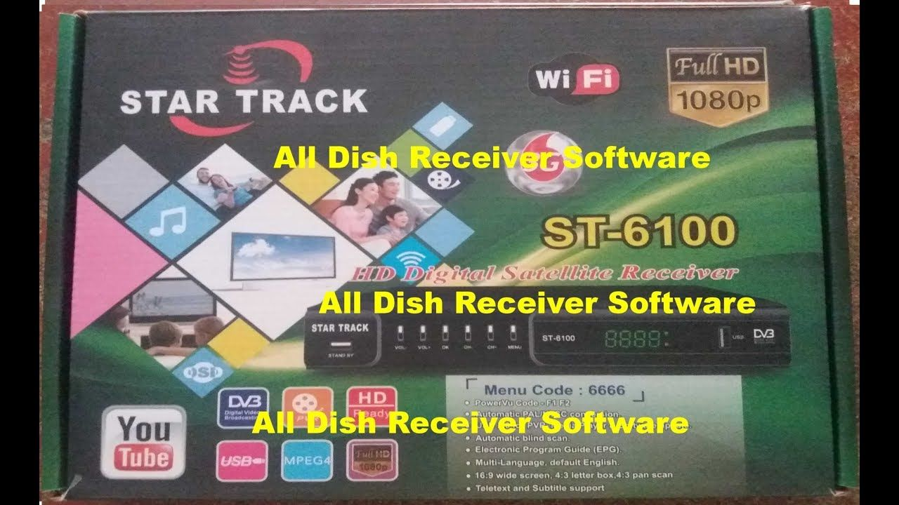 STAR TRACK ST 6100 HD RECEIVER AUTO ROLL BISS KEY NEW SOFTWARE | All