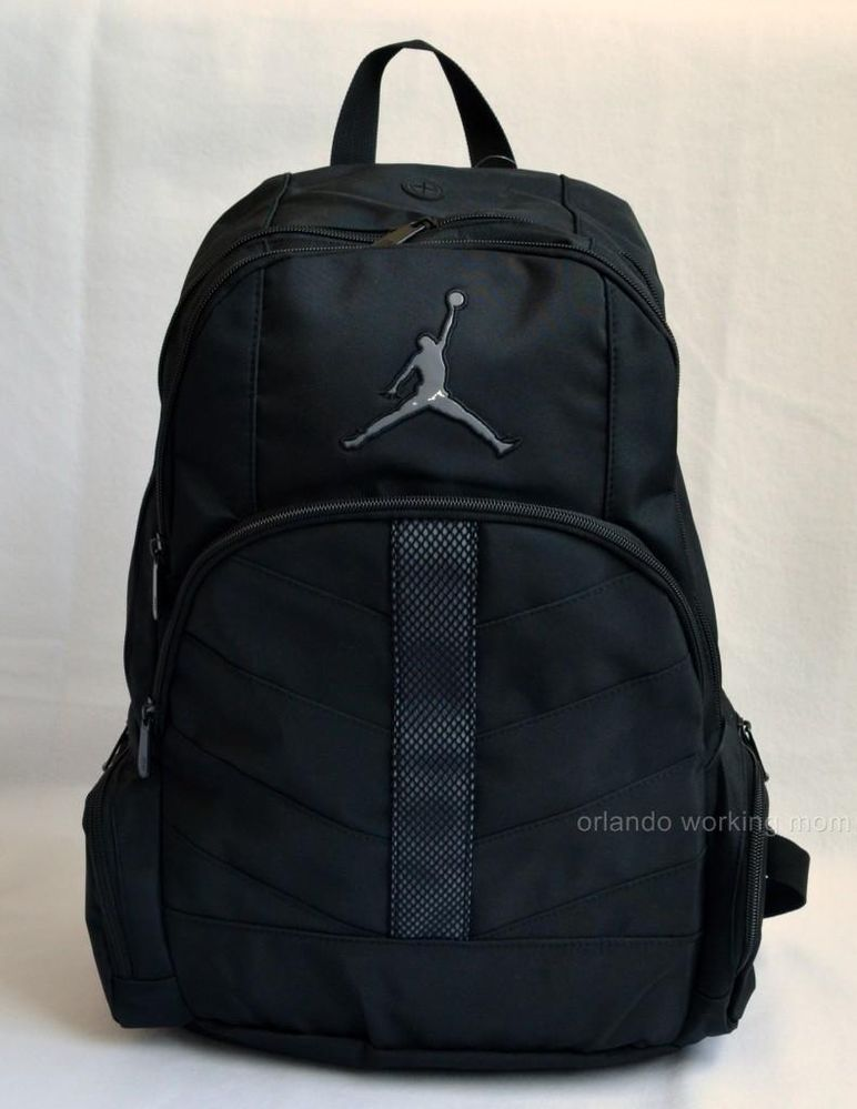 Nike Air Jordan Backpack Black Gray Book School Men Women Boy Girl Kids Bag  23  Nike  Backpack  Basketball  OrlandoTrend  Jumpman e32f2afeee