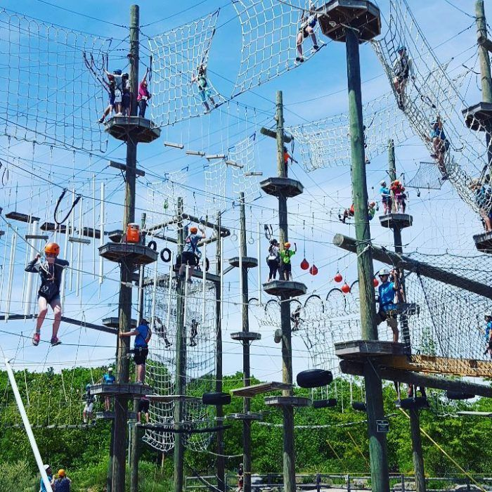 There S An Adventure Park Hiding In The Middle Of A Maine Forest And You Need To Visit Adventure Park Outdoor Travel Adventure Adventure